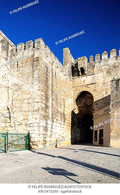 Puerta de Sevilla Sevilla Gate, Moorish city walls of Carmona, province of Seville, Spain