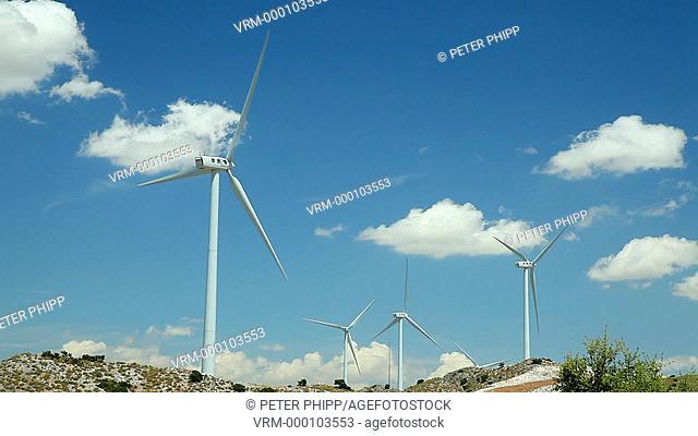 Turbines on wind farm