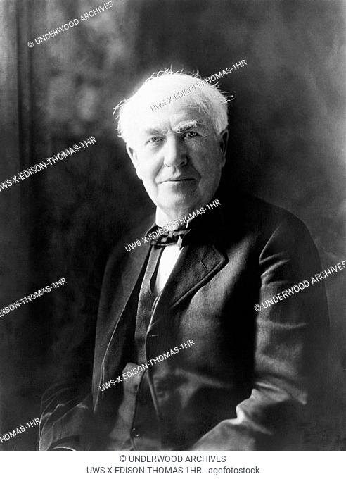 United States: c. 1922.Portrait of Thomas Edison, inventor