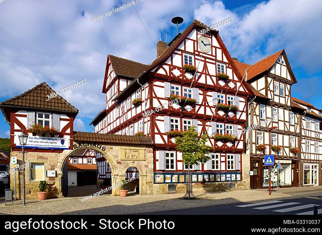 Town hall, Wanfried, Werra-Meiáner district, Hesse, Germany