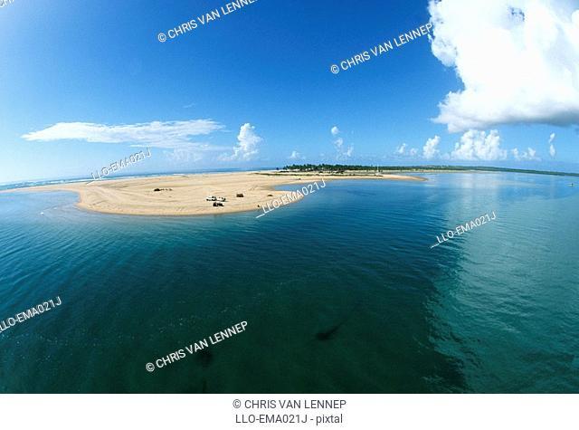 Aerial View of Barra Beach  Inhambane Bay, Mozambique