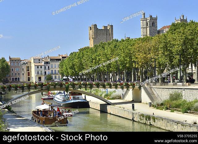 France, Aude, Narbonne, Canal de la Robine