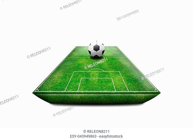 Football Stadium field 3D isolate