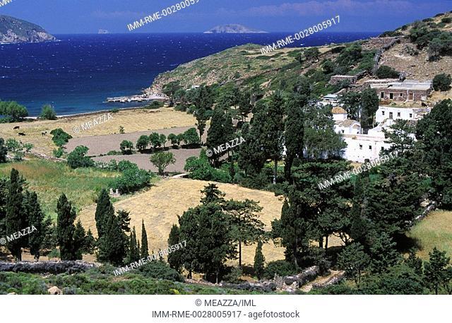 Livadi, Kalogiron Beach view , Patmos, Dodecanese, Greece
