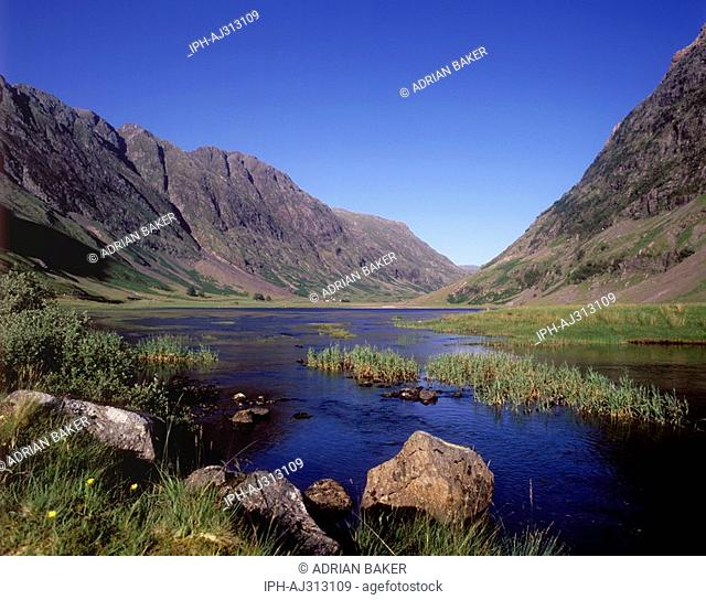 River Coe running through the glacial valley of Glencoe