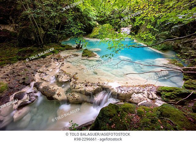 Source of the river Urederra, Parque natural de Urbasa-Andia, Navarre, Spain