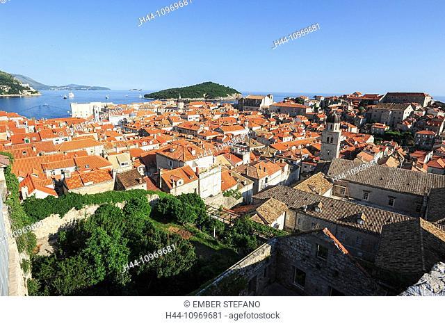 Castle, Adriatic, ancient, architecture, bright, city, cityscape, coast, coastline, Croatia, Balkans, Europe, Dalmatia, Dubrovnik, Europe, famous, fort