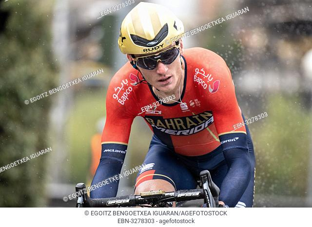 Grega Bole at Zumarraga, at the first stage of Itzulia, Basque Country Tour. Cycling Time Trial race