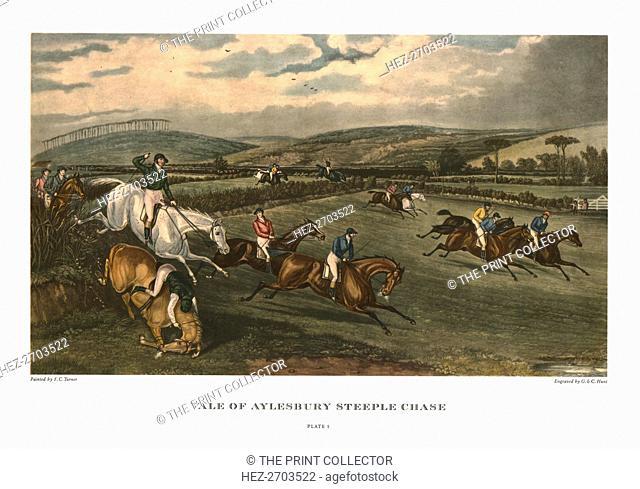 'Vale of Aylesbury Steeple Chase', Plate 1, c1836, (c1955). Creators: Charles Hunt, George Hunt