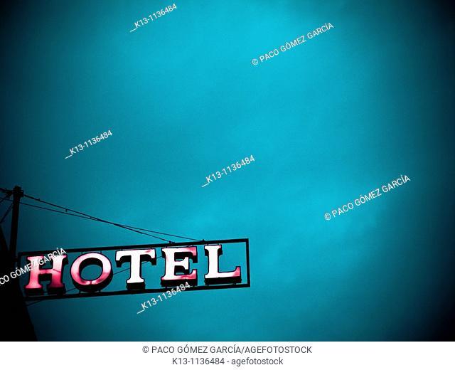 Hotel sign in Venice, Italy