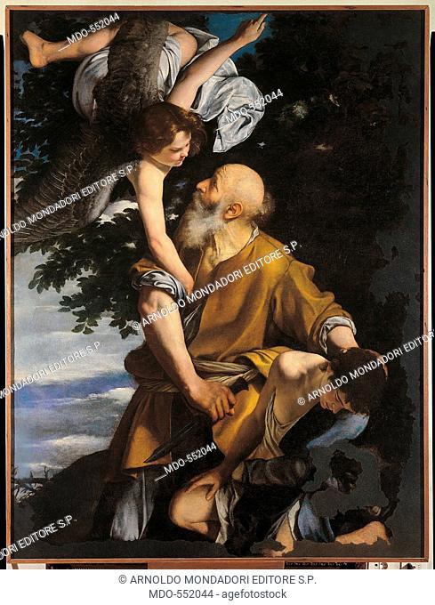 Binding of Isaac (Il sacrificio di Isacco), by Orazio Gentileschi, 1621-1624, 17th Century, oli on canvas