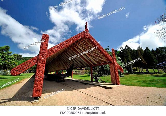 Maori war canoe at Waitangi NZ