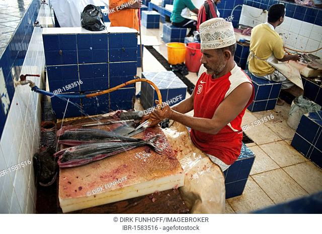 Fish market in Muttrah, Oman, Middle East