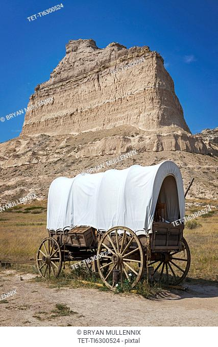 Scott's Bluff National Monument, Pioneer's covered wagon
