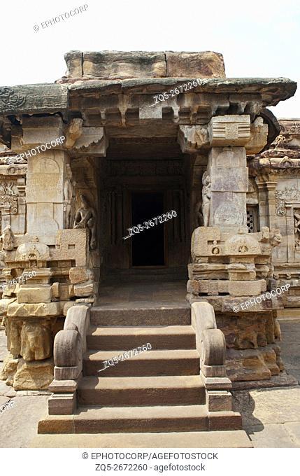 Eastern entrance, Virupaksha Temple, Pattadakal temple complex, Pattadakal, Karnataka, India