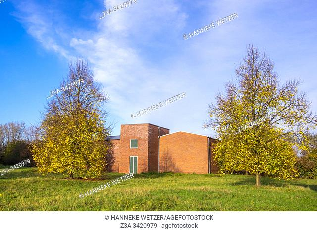 Architecture by Per Kirkeby on the site of a former NATO missile base, Insel Hombroich, Neuss, Germany, Europe