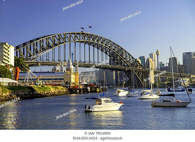 Sydney Harbour Bridge from Lavender Bay, Sydney, New South Wales, Australia, Pacific