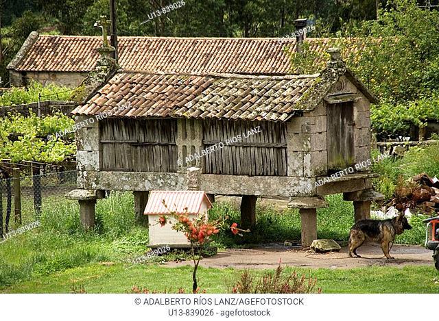 Horreo, Stone, Barn, Galician, Vineyard