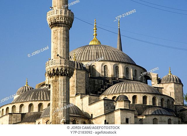 Sultan Ahmed Camii (Blue Mosque) . Istanbul. Turkey