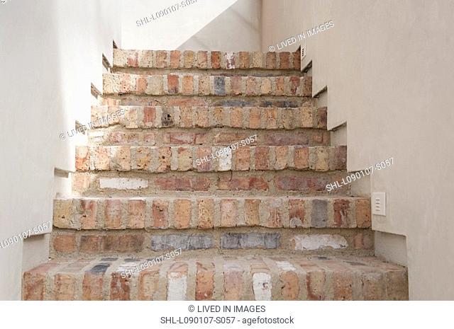 Detail brick staircase