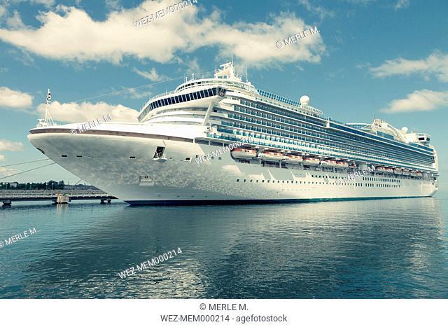 Baltic States, Estonia, Cruise ship mooring in Tallinn