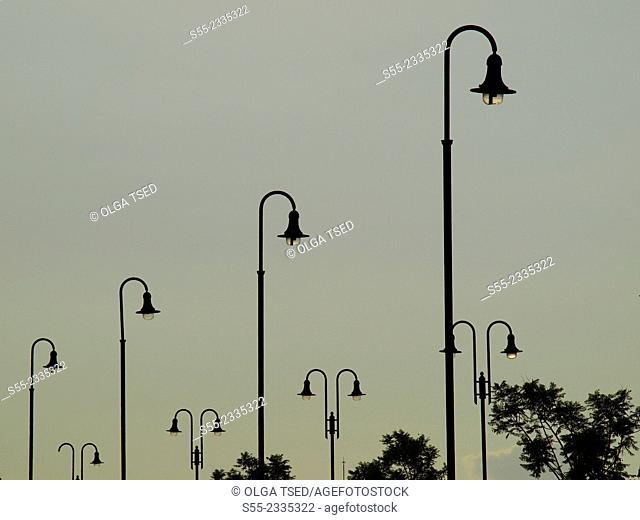 Street lights. Catalonia, Spain