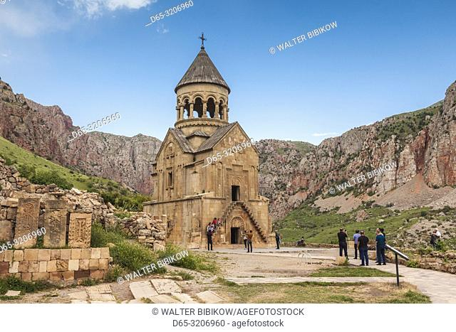 Armenia, Noravank, Noravank Monastery, 12th century, late afternoon with visitors, NR
