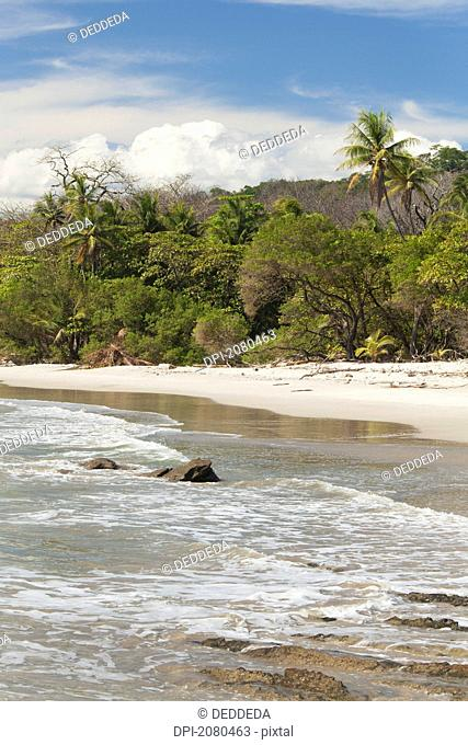 Santa teresa beach near mal pais malpais on the nicoya peninsula, puntarenas province costa rica