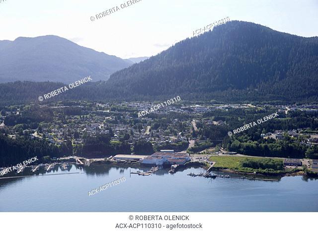 Aerial of Prince Rupert, British Columbia, Canada