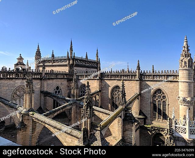Cathedral of Saint Mary of the See or Seville Cathedral, Seville, Andalusia, Spain. UNESCO 1987 World Heritage Site