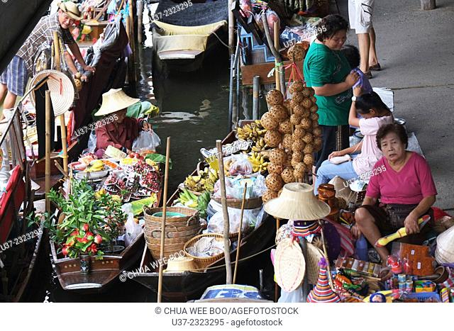 Damneon Saduak Floating Market, Bangkok, Thailand