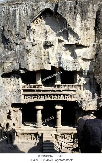 Ellora caves, aurangabad, maharashtra, india, asia