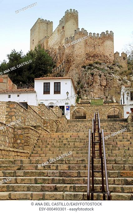Medieval castle  Almansa  Castilla la Mancha  Albacete  Spain