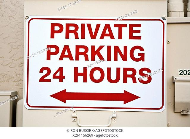 Ocala, FL - Mar 2009 - Private parking sign in downtown Ocala, Florida