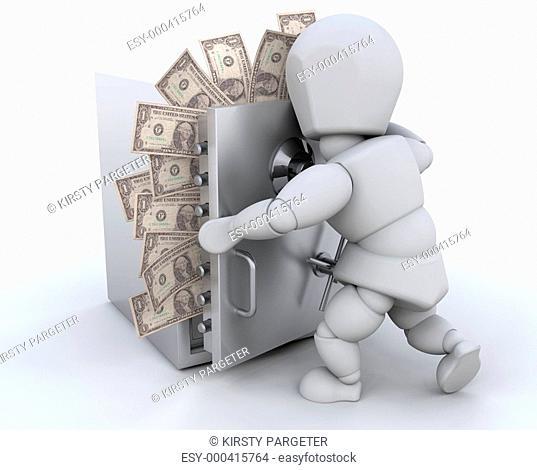 Stashing money
