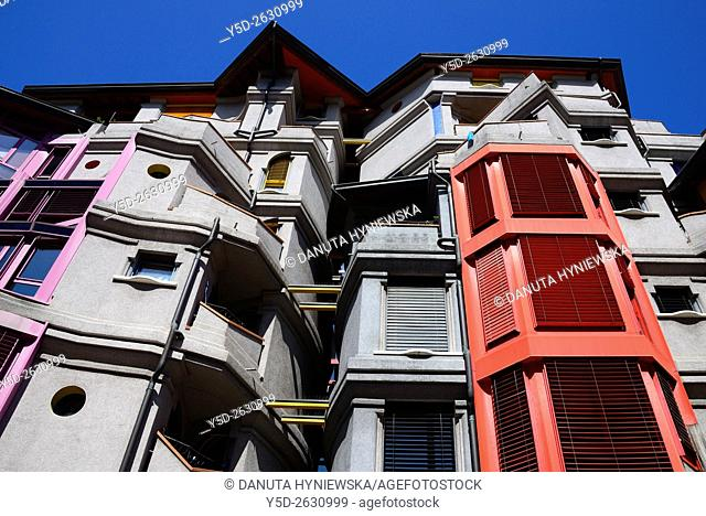 residential area called 'Les Grottes', Genève, Geneva, Switzerland, Europe