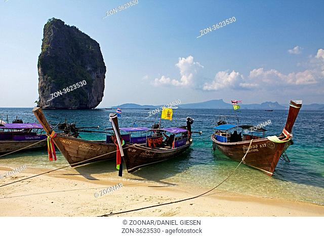 Boats on the Beach from Krabi