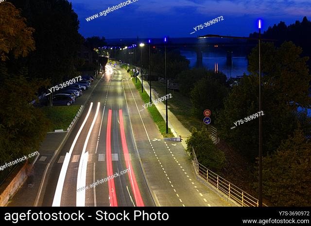 LED street lighting in Sartrouville, Yvelines , France