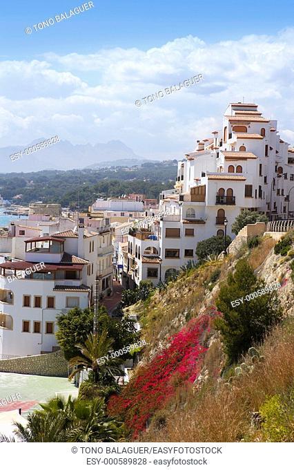 moraira village mediterranean country in Spain Alicante province