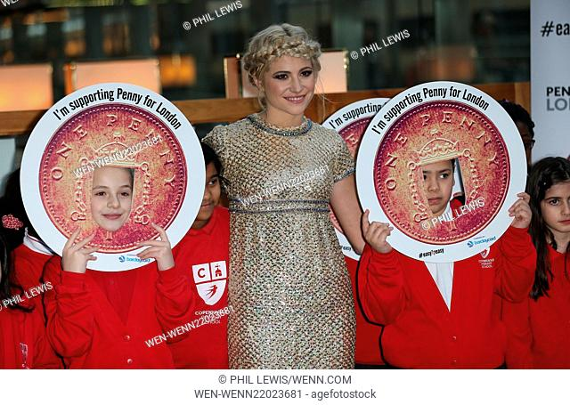 Pixie Lott performs with children from Copenhagen Primary School in aid of Penny for London at St. Pancras International Featuring: Pixie Lott Where: London