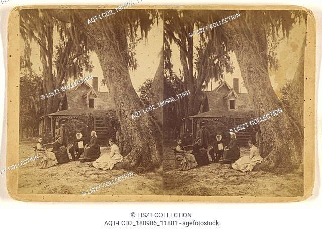 H(arriet) B(eecher) Stowe home in Florida; American; about 1880; Albumen silver print