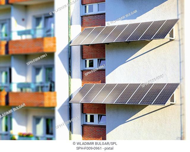 Solar panels on houses