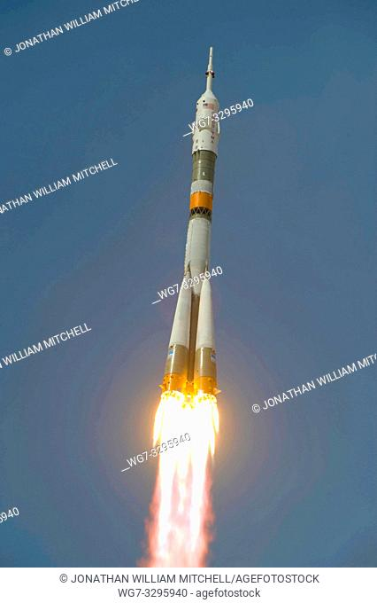 KAZAKHSTAN Baikonur Cosmodrome -- 27 May 2009 -- The Soyuz TMA-15 launches from the Baikonur Cosmodrome in Kazakhstan on a mission to the International Space...