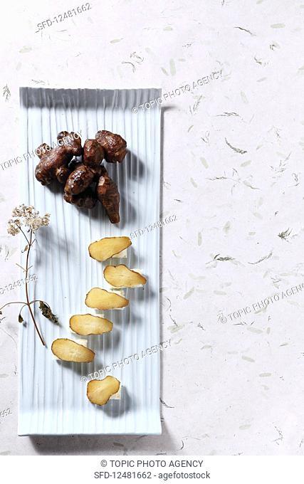 Pickled Jerusalem artichoke (Korea)