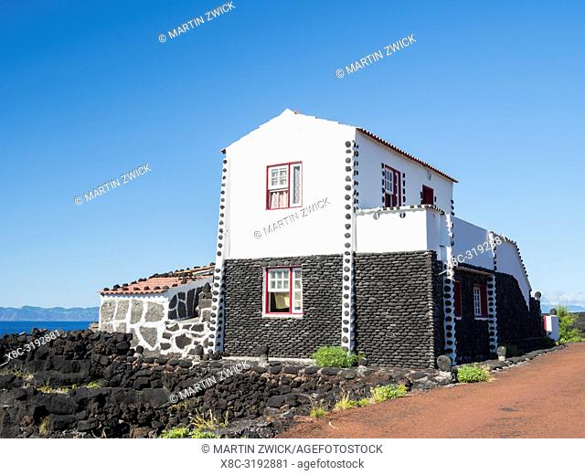 Village Lajido on the northern coast. Pico Island, an island in the Azores (Ilhas dos Acores) in the Atlantic ocean. The Azores are an autonomous region of...