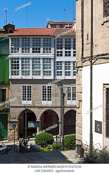 Historic Buildings at Praza Maior, Ourense, aka Orense, Galicien, Spain