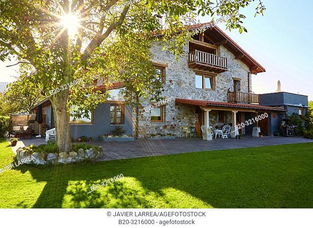 Urain Apartments, Basque farmhouse, Deba, Gipuzkoa, Basque Country, Spain, Europe