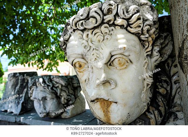 Marble Dintel Head. Aphrodisias. Ancient Greece. Asia Minor. Turkey