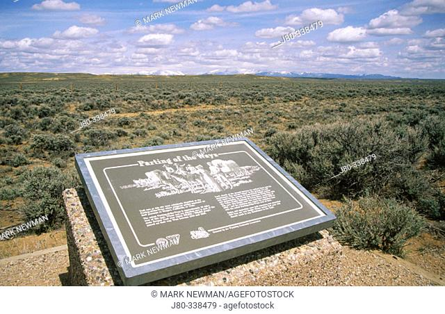 Parting of the Ways Historical Site. Along the Oregon Trail. Wyoming. USA