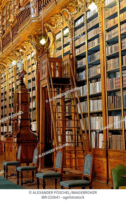 Hradcany, Strahov monastery, hall of philosophy, book, library, Prague, Czech Republic